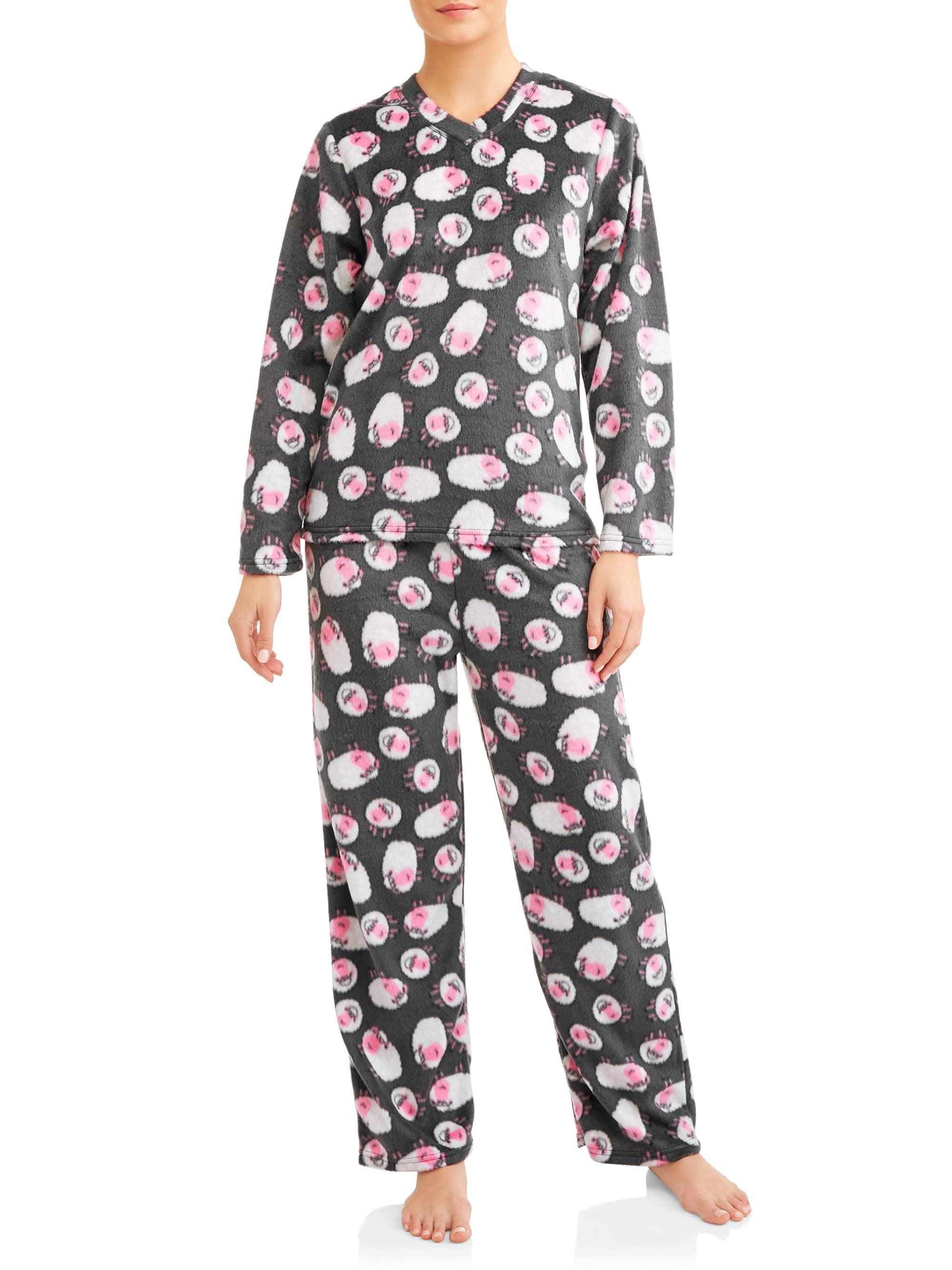 Mayfair Women's and Women's Plus Minky Fleece 2-Piece Pajama Set