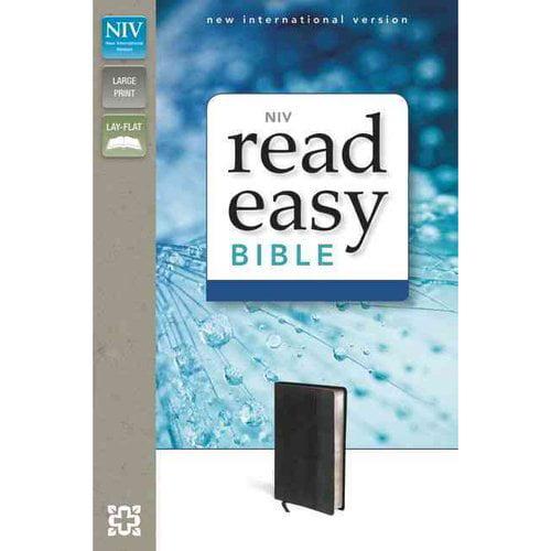Holy Bible: New International Version, Black/ Black, Italian Duo-Tone, ReadEasy