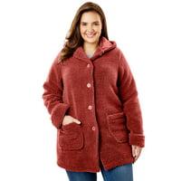 2e49a79f29c9f Product Image Plus Size Hooded Berber Fleece Jacket