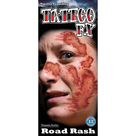 Tinsley Transfers Temporary Tattoo - Road Rash for $<!---->