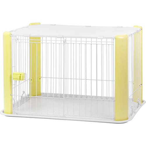 IRIS Wire Pet Playpen with Roof, White