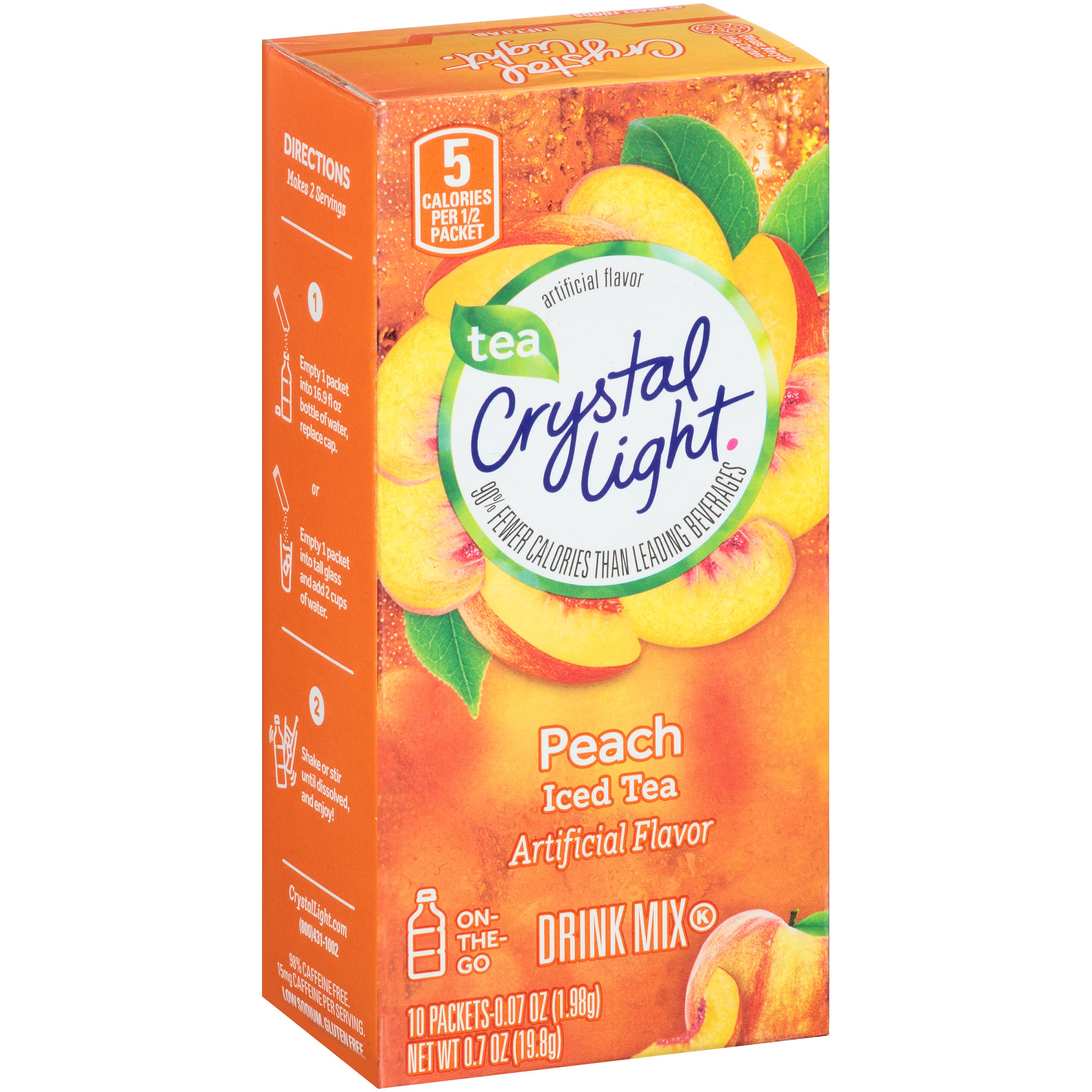 Crystal Light On The Go Peach Tea, 0.07 Ounce Packet