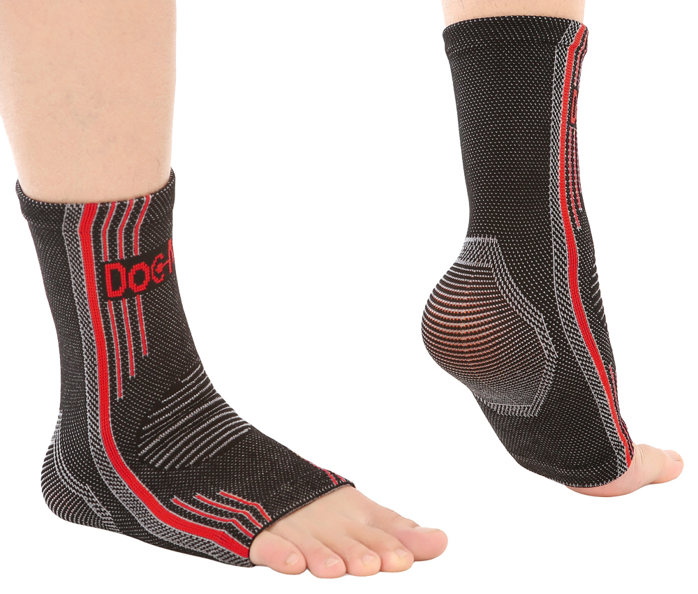 COOLOMG Ankle Brace Compression Foot Support Sleeves 1 Pair for Injury Recovery Eases Swelling Joint Pain Achilles Tendon Support 20-30mmHG Feet Socks