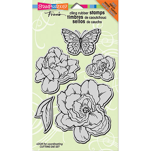 """Stampendous Jumbo Cling Rubber Stamp, 7"""" x 5"""" Sheet, Lovely Garden"""