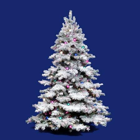 Vickerman Flocked Alaskan Clear Pre-lit Christmas Tree - Vickerman Flocked Alaskan Clear Pre-lit Christmas Tree - Walmart.com