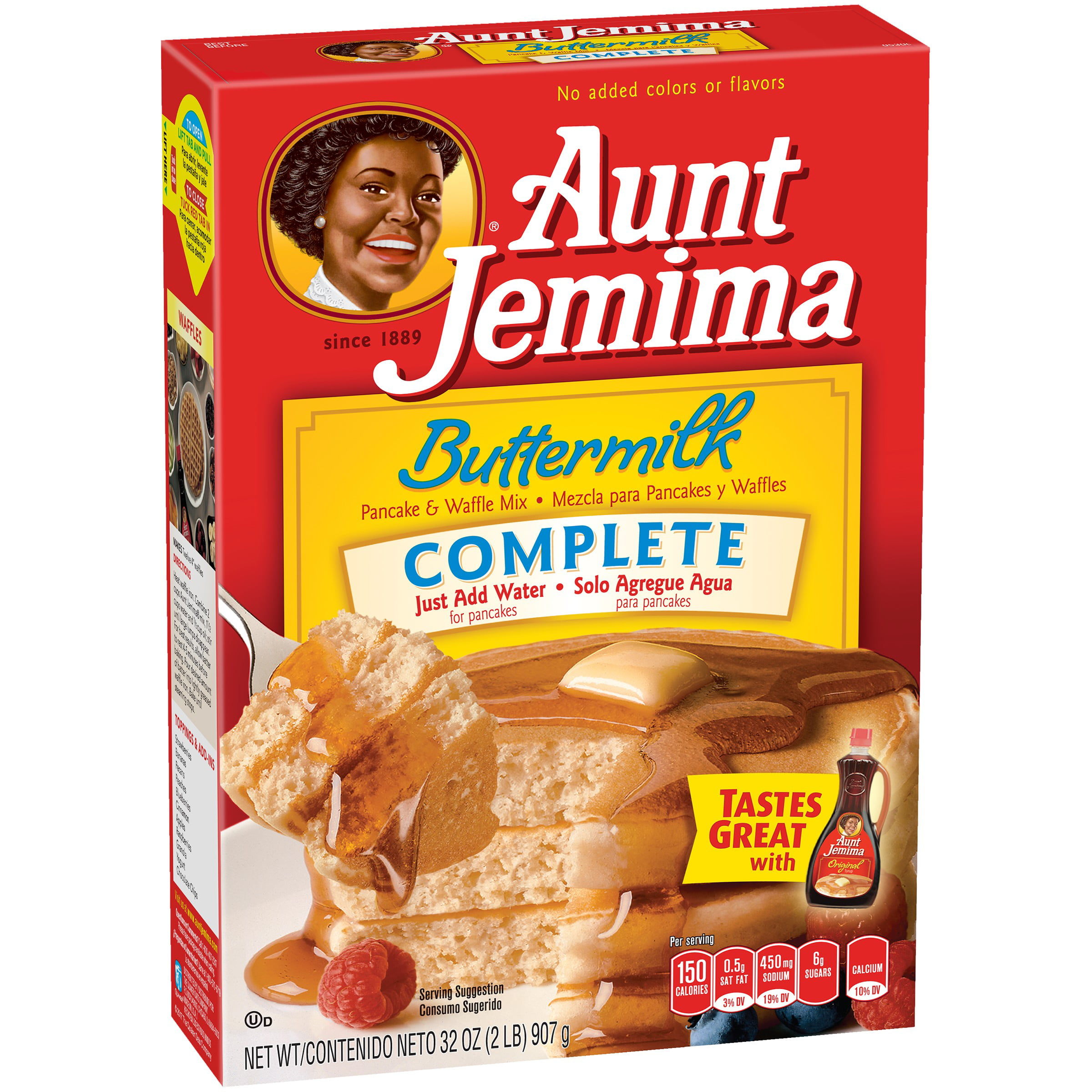 Aunt Jemima Buttermilk Complete Pancake & Waffle Mix, 32 oz Box by The Quaker Oats Company