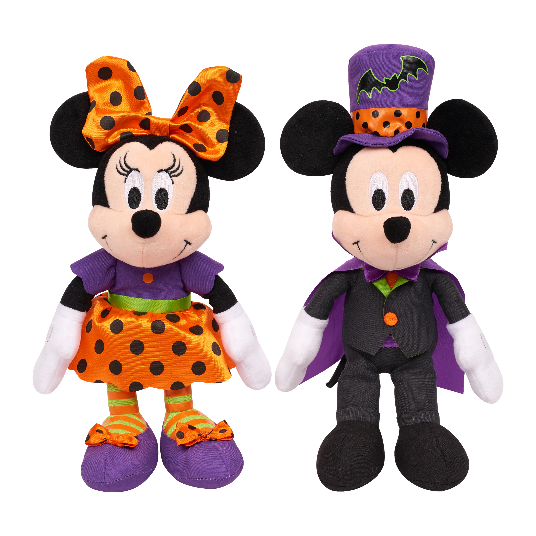 Disney Halloween Bean Plush- Mickey & Minnie in Halloween Outfits- 2 pack