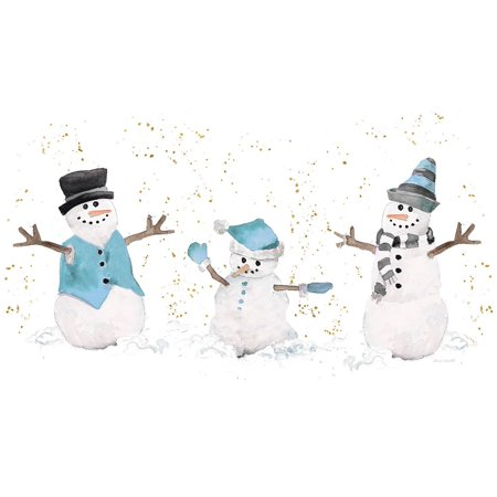 Blue Snowman Trio Poster Print by Lanie Loreth ()