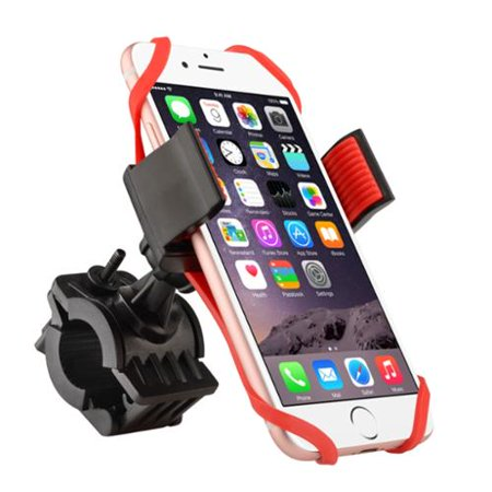 Insten Bike Phone Holder Bicycle Cell Phone Mount Universal Phone Holder with Secure Grip & 360 Adjustable Ball Head Mount for iPhone XS X 7 8 6s Plus Samsung S10 S10e S9+ S9 S8 Plus Edge GPS Device