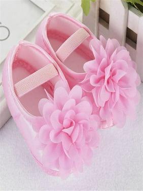 Product Image Toddler Kid Baby Girl Chiffon Flower Elastic Band Newborn Walking Shoes PK 11
