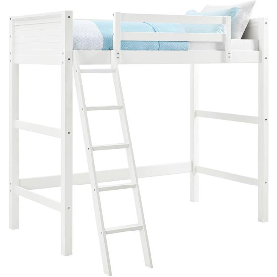 Your Zone Twin Wood Loft Bed Multiple Colors Walmart Com