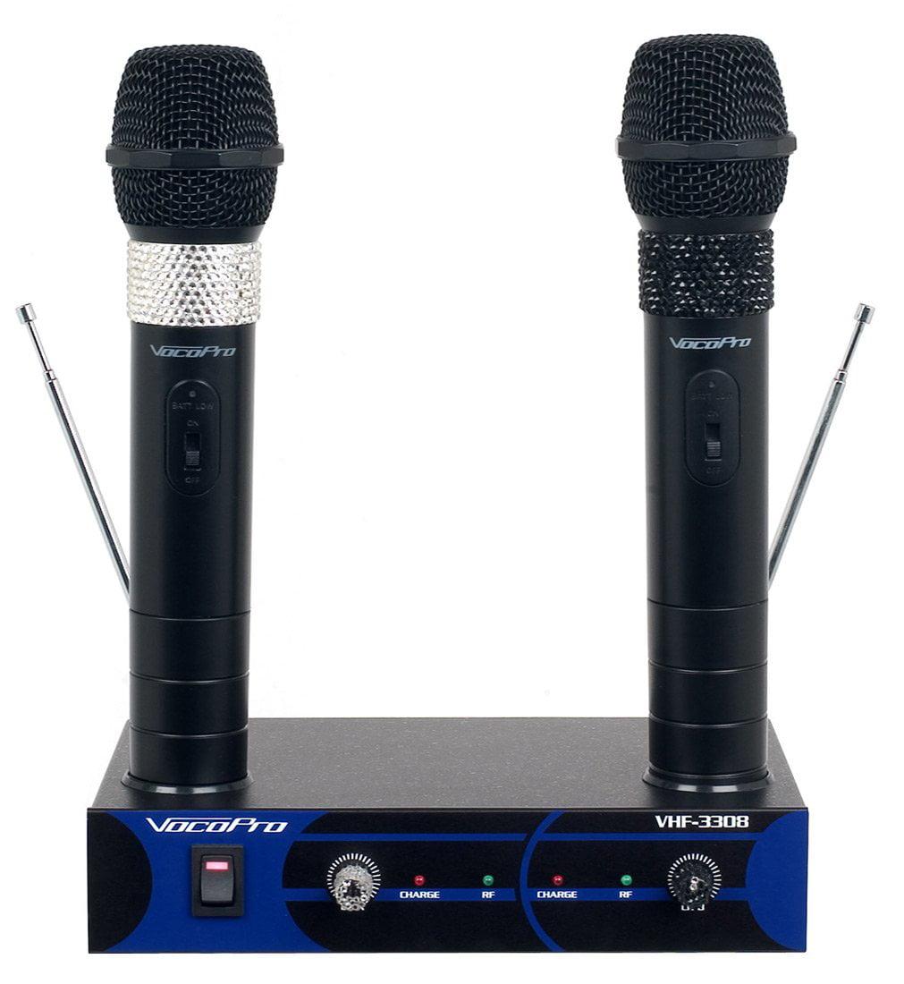 VocoPro VHF3308-4 Wireless Microphone System