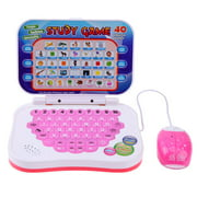 Bilingual Early Educational Learning Machine Kids Laptop Toys with Mouse