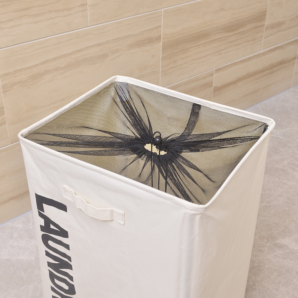 Portable Laundry Basket Single Lattice Clothes Basket With Wheel White Walmart Com Walmart Com