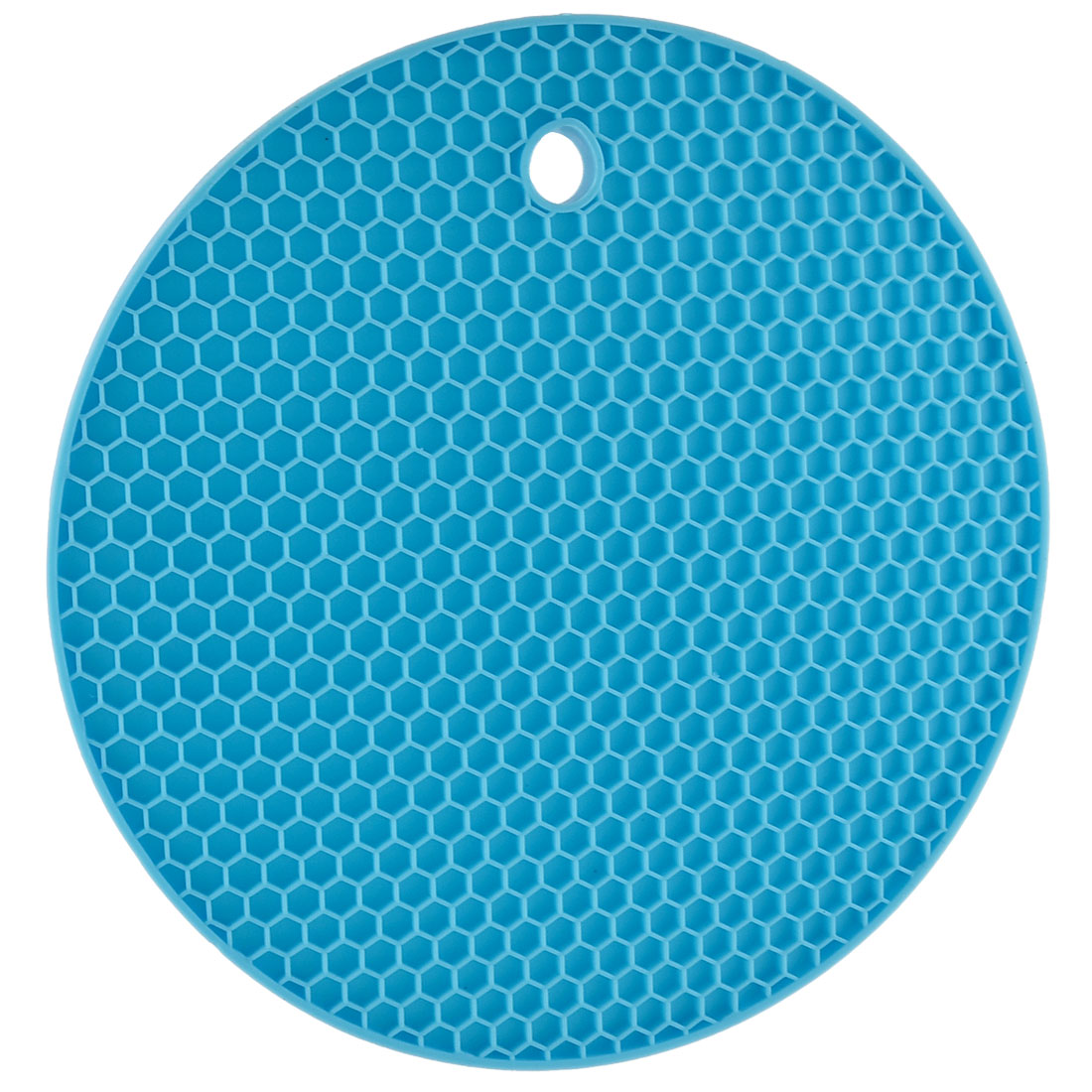 Household Round Shaped Nonslip Heat Insulated Hot Pot Mat Pad Holder Cyan