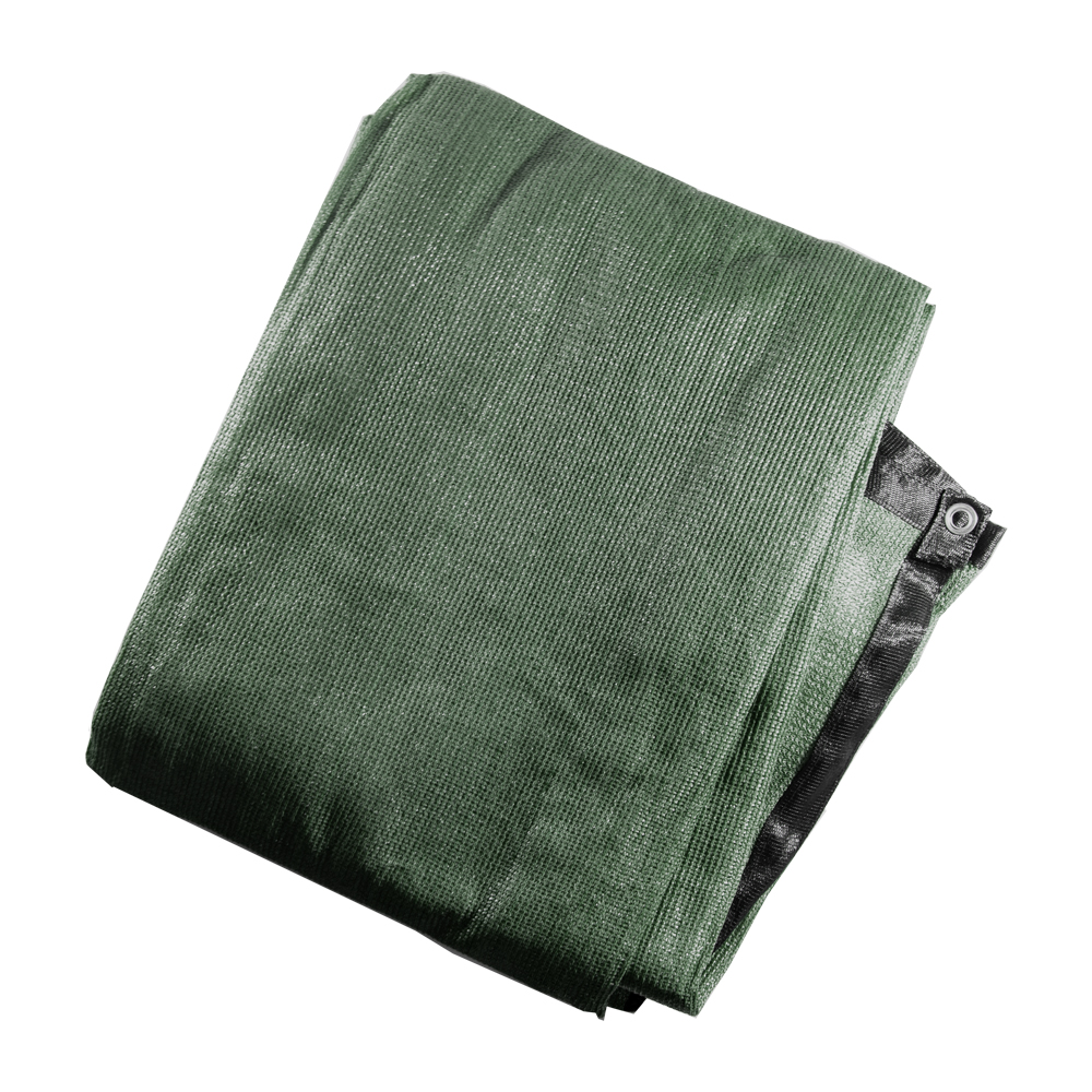 ALEKO Privacy Mesh Fabric Screen Fence with Grommets - 5 x 50 Feet - Dark Green