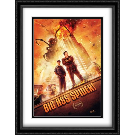 Big Ass Spider! 28x36 Double Matted Large Large Black Ornate Framed Movie Poster Art