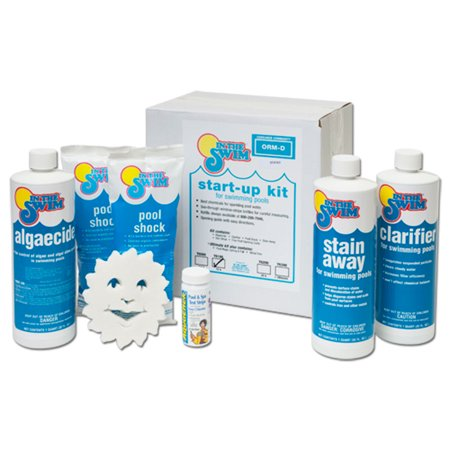 Pool Chemical Kit - In The Swim Deluxe Pool Opening Chemical Start Up Kit - Up to 15,000 Gallons