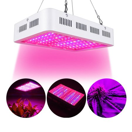 Full Spectrum LED Grow Lights, 600W Plant Grow Lamp with Chain for Greenhouse Hydroponic Indoor Plants Seeding Growing and Flowering ()