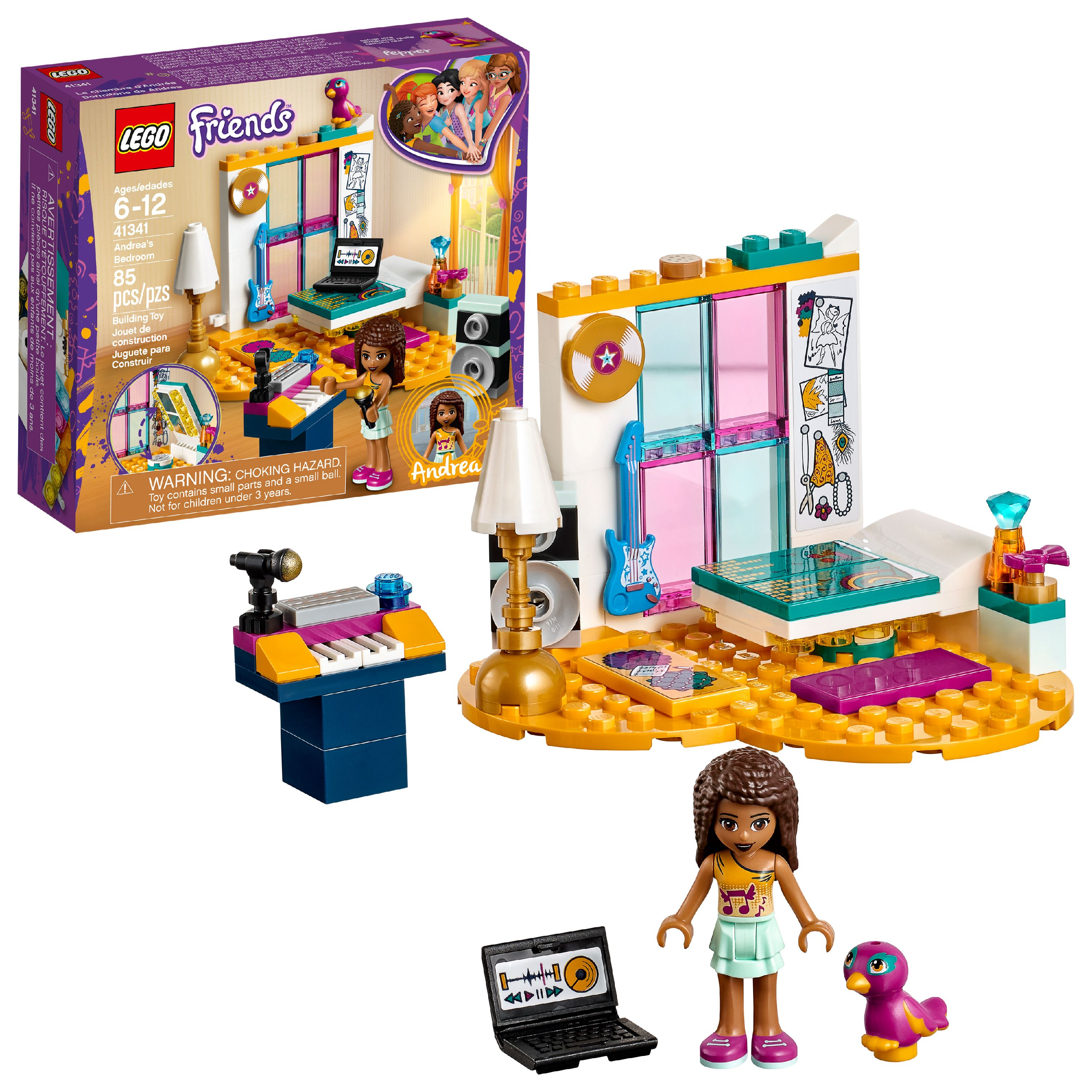 LEGO Friends Andrea's Bedroom 41341 Building Set (85 Pieces)