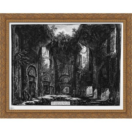 Diet or place of entrance to several great cubicles and other magnificent rooms, existing in the Villa Adriana 34x28 Large Gold Ornate Wood Framed Canvas Art by Giovanni Battista Piranesi](Christmas Cubicle Decor)