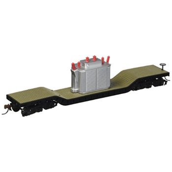 Bachmann Trains Center-depressed Flat Car with Transformer Depressed Center Flat Car
