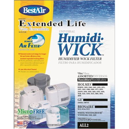 BestAir Extended Life Wick Replacement Humidifier Filter