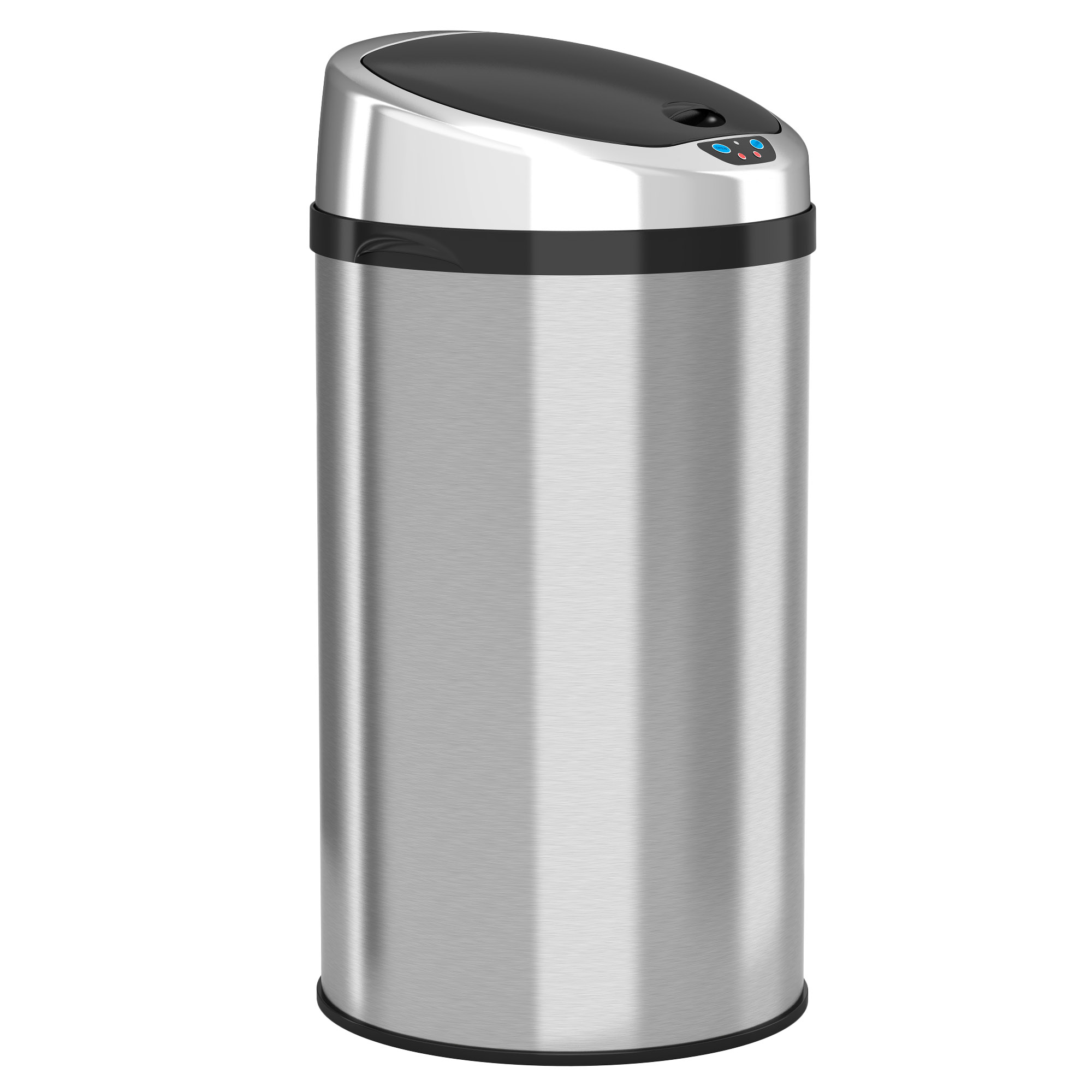iTouchless 8 Gallon Automatic Trash Can with Infrared-Sensor Lid, Stainless Steel