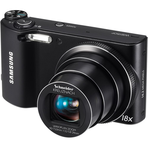 "Samsung W150F Smart Long Zoom 14MP Digital Camera w/ 18x Optical Zoom Lens, 3"" LCD Display, HD Video, WiFi Connectivity"