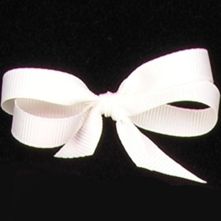 Set of 6 Ivory Colored Grosgrain Woven Edge Ribbon 5/8 x 22...
