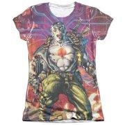 Bloodshot Cyber War (Front Back Print) Juniors Sublimation Shirt