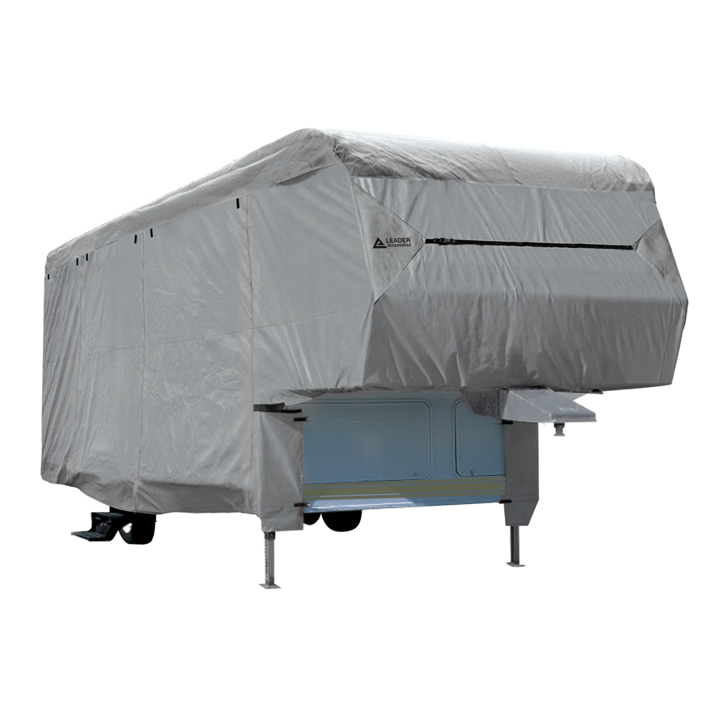Leader Accessories Premium 300D Upgrade Travel Trailer RV Cover Fits 16-18 Camper Outdoor Protect Trailer Cover Beige