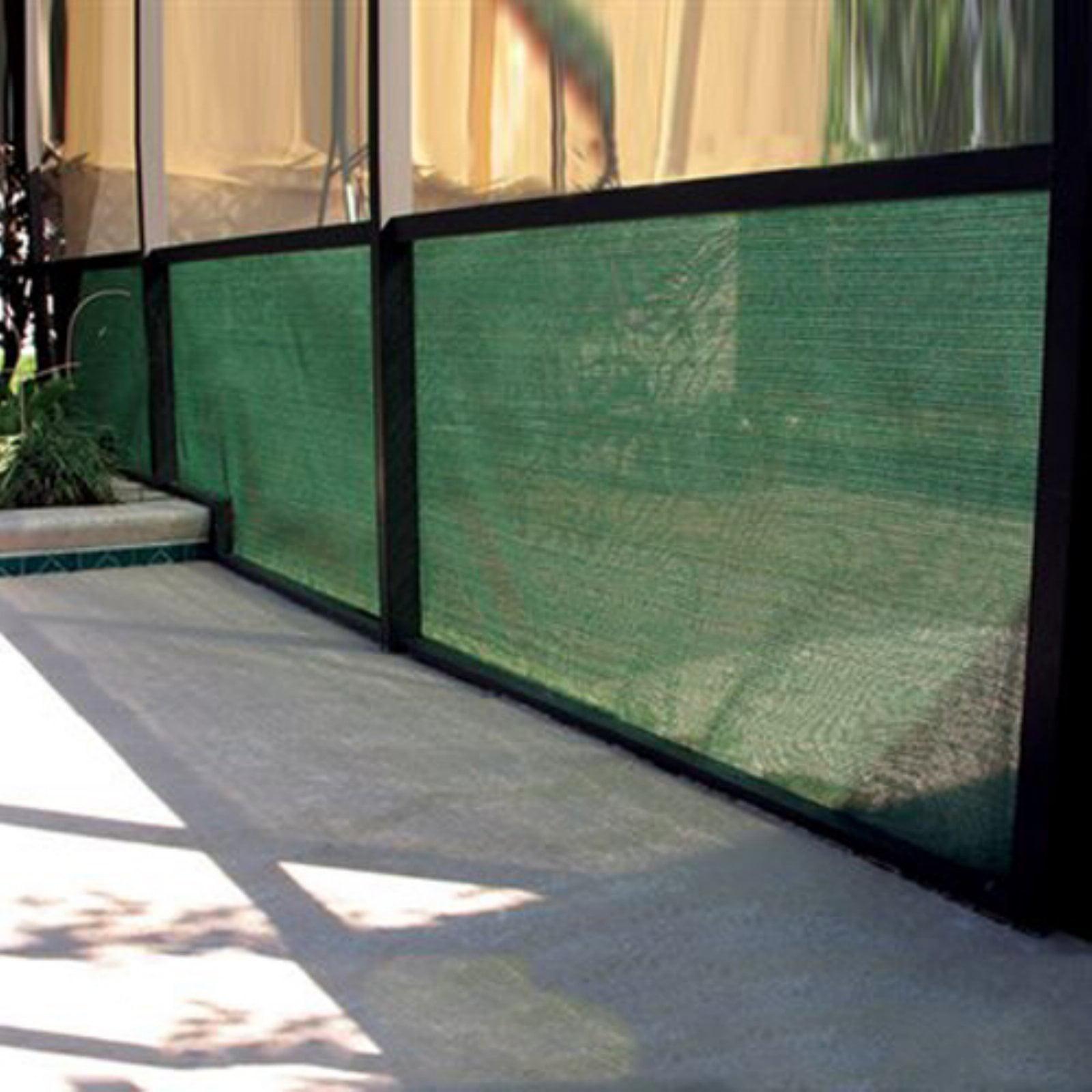 Coolaroo Shade Fabric, 90 Percent UV, 6' x 100', Heritage Green