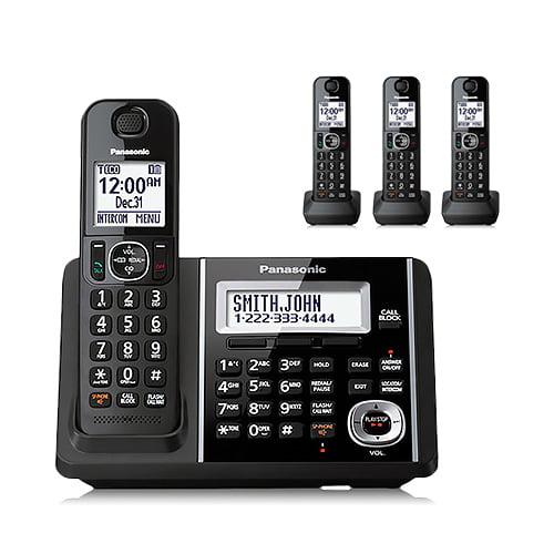 Refurbished Panasonic KX-TGF344B 4 Handset Cordless Phone
