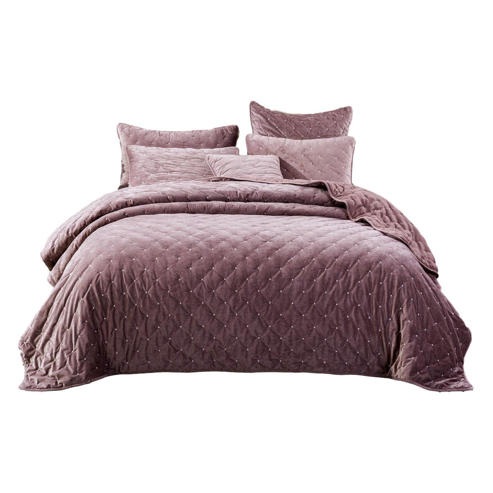 Luxury Velveteen Diamond Tufted Bedspread Set by Tache Home Fashion