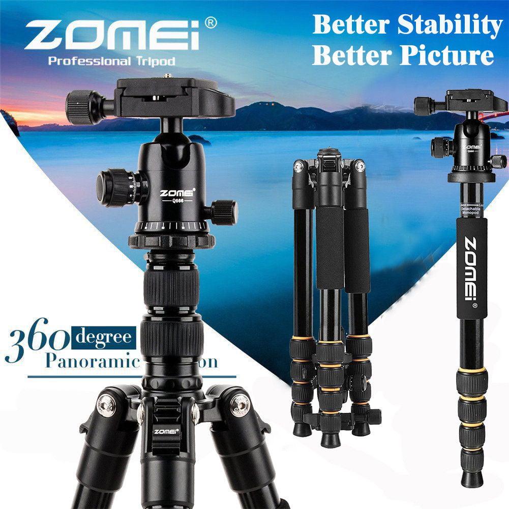 Lightweight Compact Travel Zomei Q666 Portable Lightweight DSLR Camera Camcorder Tri p o d Ball Head Stand