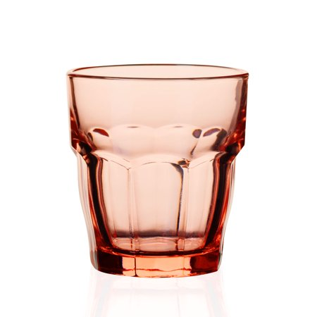 - Bormioli Rocco Colored Rocks Glasses - 9.25 oz - Set of 4 - Peach Pink