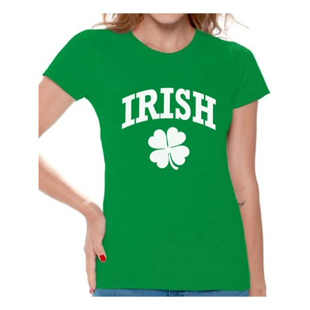 Awkward Styles Four Leaf Clover St Patrick's Day Shirt Womens St Patrick's Day Shirts Irish Shirts for Women Luck Shirts for Irish Girls Irish Roots Irish Heritage St Patricks Gifts for Her](Patrick As A Girl)