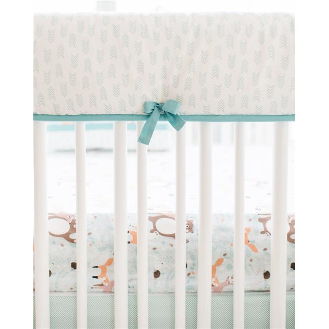 My Baby Sam RC185 Friends Crib Rail Cover - Forest