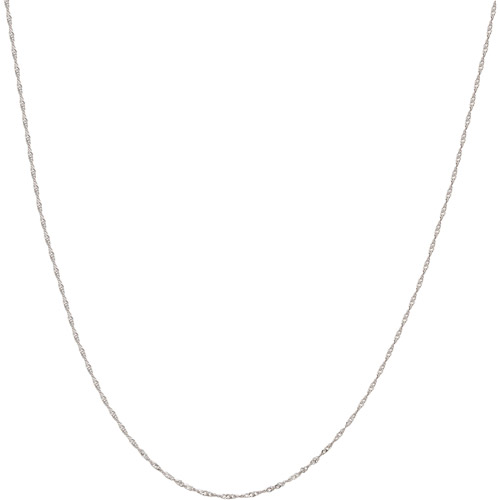 """Simply Gold 10kt White Gold Singapore Chain, 20"""""""