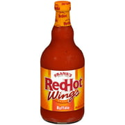 Frank's RedHot Buffalo Wings Sauce, Chicken Wing Seasoning, 23 fl oz