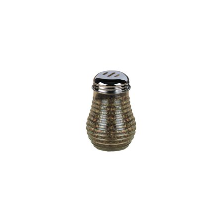 American Metalcraft BEE607 Beehive Glass Spice Shaker w/ Metal Lid