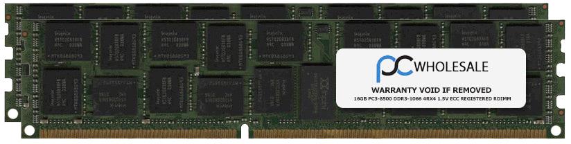 IBM Compatible 32GB [2x 16GB] PC3-8500 DDR3-1066 4Rx4 1.5v ECC Registered RDIMM Memory Kit (IBM PN# 8202-EM32) by IBM