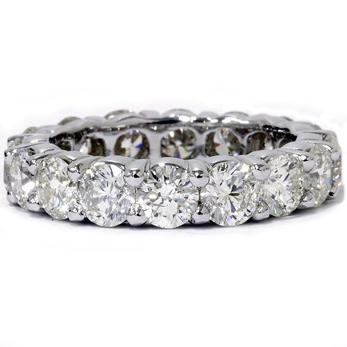 Unique Huge 5.00Ct Round Diamond Eternity Ring Wedding Band 14k White Gold by Pompeii3