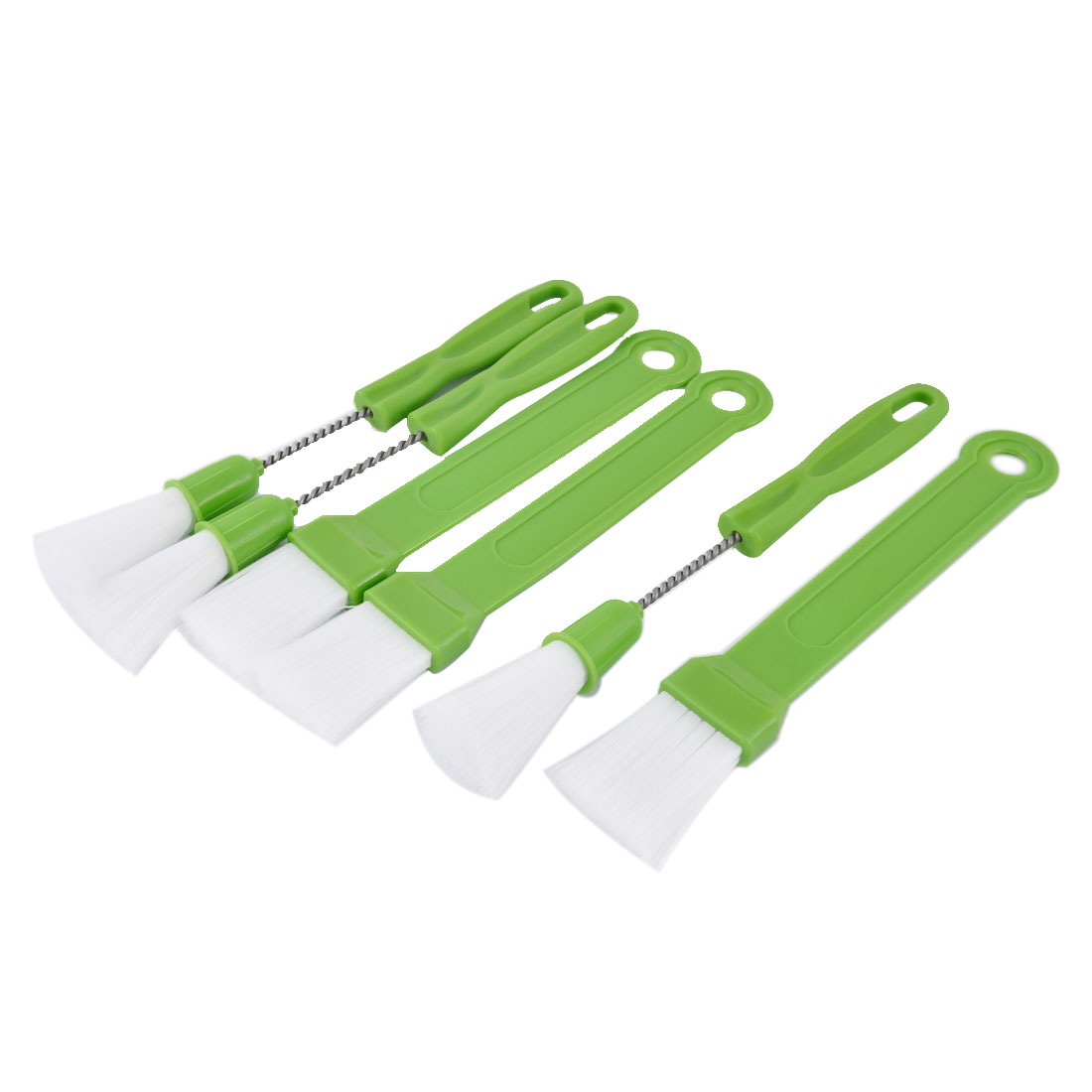 Unique Bargains 3 Sets Light Green Outdoor Indoor Barbecue BBQ Grill Plastic Grip Brush Cleaner