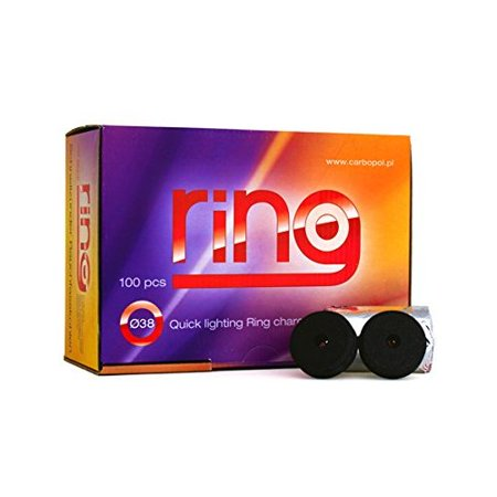 RING CHARCOAL 38MM BOX  SUPPLIES FOR HOOKAHS – 100pc roll of Quick-light  shisha coals for hookah ... 0f6b0afe60d4