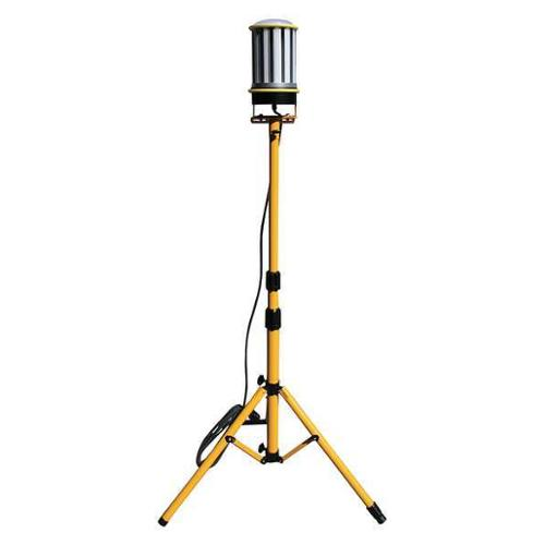 LIND EQUIPMENT 13,000 Lumens, LED Silver Yellow Temporary Job Site Light, LE360LED-TR by LIND EQUIPMENT