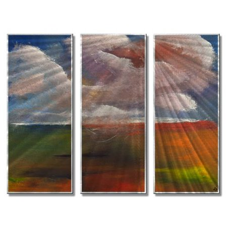 All My Walls 'Carnival Cruise' by Daniel MacGregor 3 Piece Painting Print Plaque Set