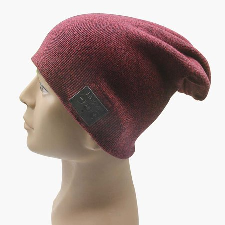 Langder Bluetooth 4.0 Slouch Winter Beanie Cap Headphone Handsfree 100% Cotton Soft Sport Hat Wireless Headset Warm Knitted Washable