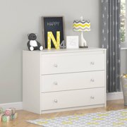 Cosco Elements 3-Drawer Dresser, White Stipple-COMPONENT